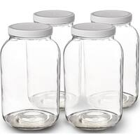 ded95ec64e09 Shop 1-Gallon Glass Jar Wide Mouth with Airtight Plastic Lid - USDA ...