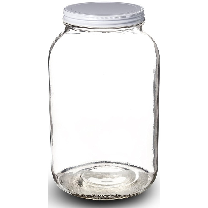 1 Gallon Glass Jar Wide Mouth With Airtight Metal Lid Usda Approved