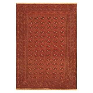 Handmade Herat Oriental Afghan Hand-woven Soumak Wool Rug (4'4 x 6'1)