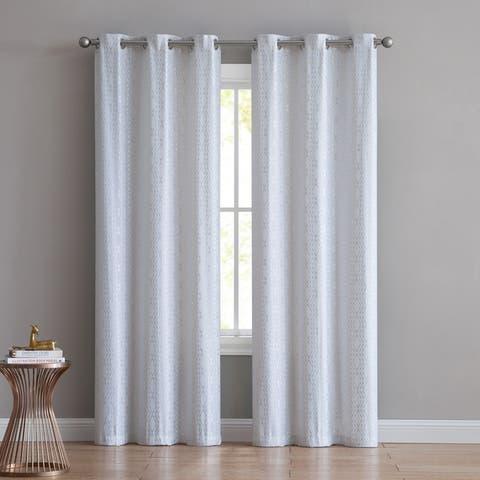 VCNY Home Wavy Stripes Curtain Set