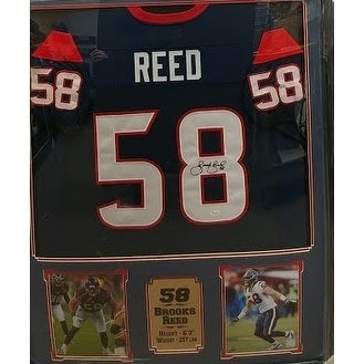 5c8d1fc45c2 Shop 44x36 Framed Autographed Custom Jersey - Brooks Reed Houston Texans -  Free Shipping Today - Overstock - 20955740