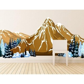 """Mountains Nature Full Color Wall Decal Sticker K-523FRST Size52""""x104"""""""