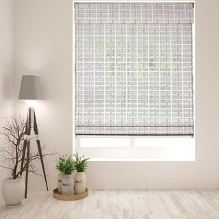 Link to Arlo Blinds Cordless Lift Whitewash Bamboo Roman Shade with 60 Inch Height Similar Items in Bamboo Shades