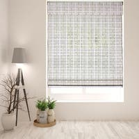 Arlo Blinds Cordless Lift Whitewash Bamboo Roman Shade