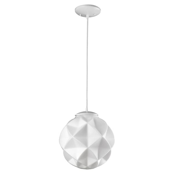 Acclaim Lighting Nova pendant with faceted opal glass shade