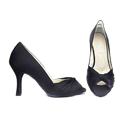 Shop Angela Nuran Rita Black Silk Pumps - Free Shipping Today -  Overstock.com - 20956072 a6b1429d336c