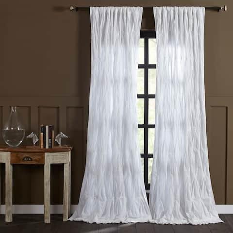 "Cottage Home Ashton White Single Curtain Panel - 50"" w x 96"" l"