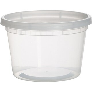 Plastic Containers for Lunch / Medium Food Containers with Lids, Leak Proof, Microwavable And Dishwasher Safe, 16 Ounce, 36 Pack