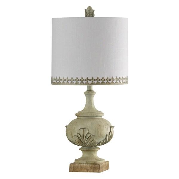 Ozery Cream Accent Table Lamp - White Hardback Fabric Shade