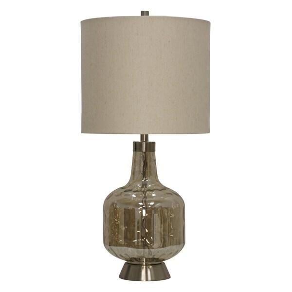Majestic Table Lamp - Beige Hardback Fabric Shade