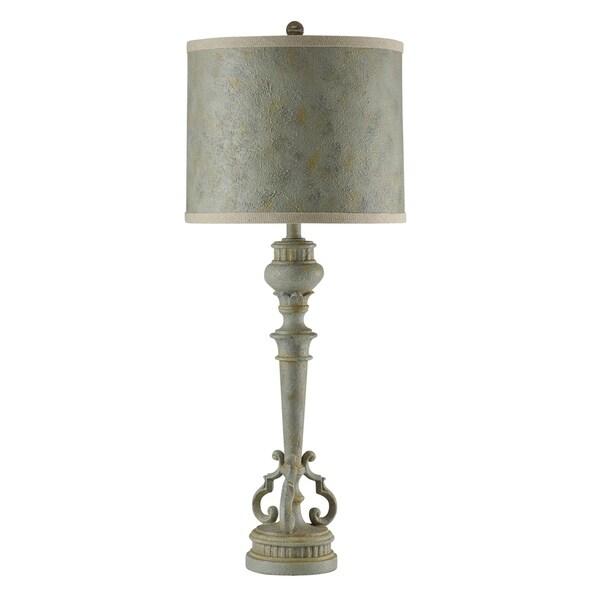 StyleCraft Barcelona Blue Table Lamp - Barcelona Blue Hardback Fabric Shade