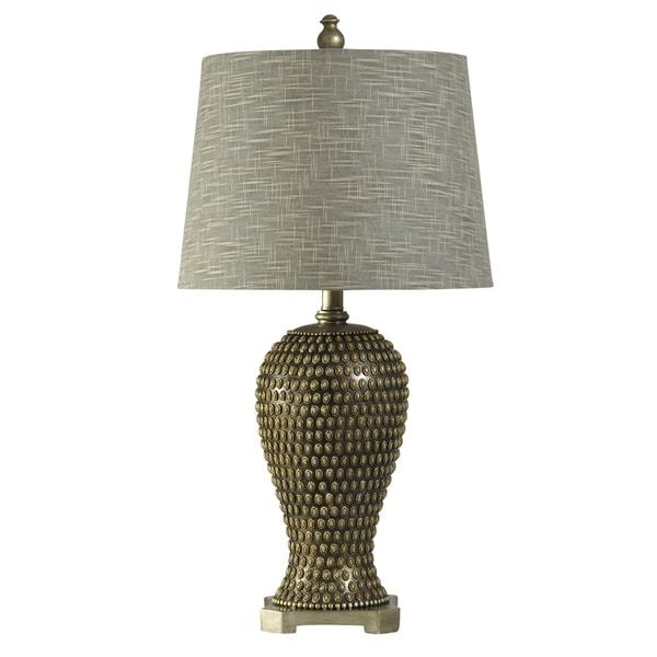 Celina Bronze Table Lamp - Designer Print Hardback Fabric Shade