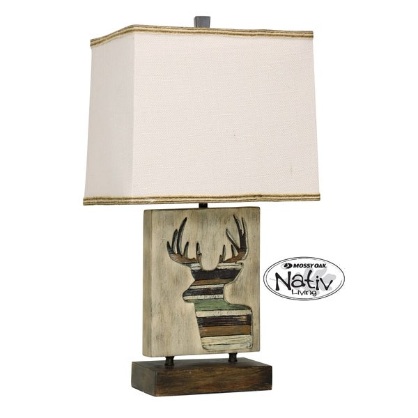 Arapahoe Accent Table Lamp - White Hardback Fabric Shade