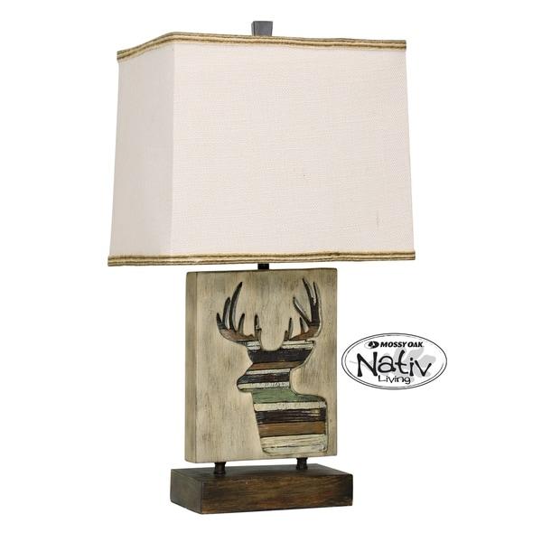 StyleCraft Arapahoe Accent Table Lamp - White Hardback Fabric Shade