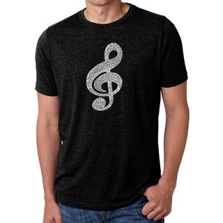 Los Angeles Pop Art Men's Premium Blend Word Art T-shirt - Music Note (More options available)