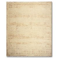 Contemporary Industrial Abstract Hand-Knotted Full Pile Area Rug - Multi - 9'x12'