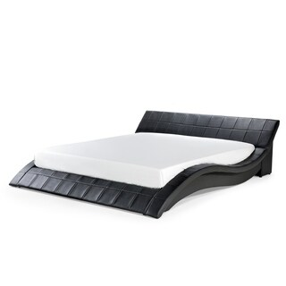 Platform Bed in Wave Design with Slatted Frame - King or Queen (4 options available)