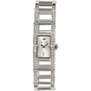 Swarovski elements Women's Crystal Stainless Steel Watch - silver
