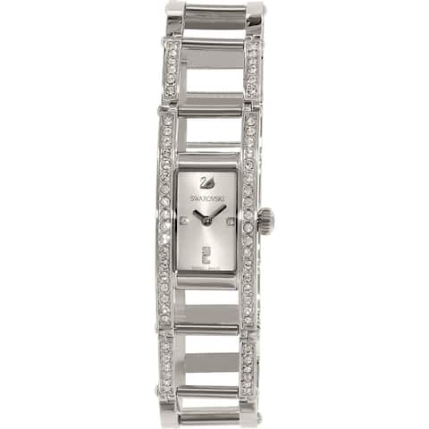 Swarovski elements Women's Crystal Stainless Steel Watch - silver