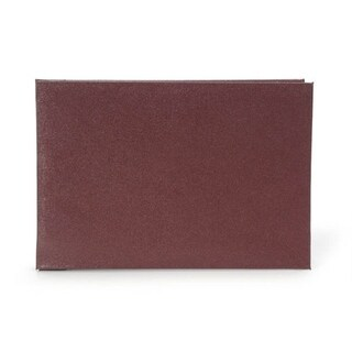 Darice Burgundy Leather Photo Album 5X7 With 10 Top Load Page Protectors