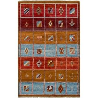 eCarpetGallery Hand-knotted Shalimar Dark Copper, Light Blue Wool Rug - 5'3 x 8'2