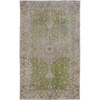 eCarpetGallery  Hand-knotted Anadol Vintage Light Green Wool Rug (5'5 x 9'0) - 5'5 x 9'0