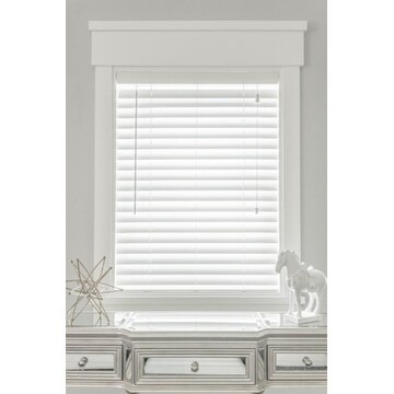 MySmartBlinds Custom Automated White Faux Wood 52-inch Width Blinds