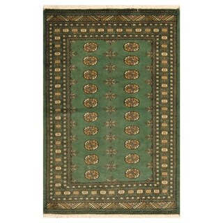 Handmade Herat Oriental Pakistani Hand-knotted Bokhara Wool Rug (Pakistan) - 4' x 6'