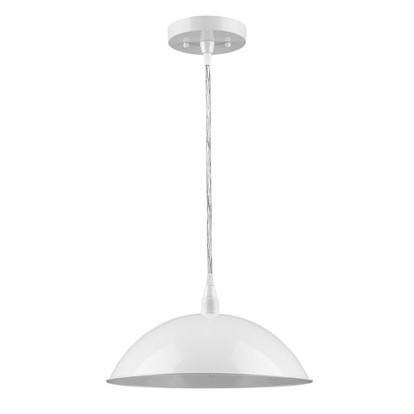 Acclaim Lighting Layla 12-inch Pendant Light with White Exterior and White Interior