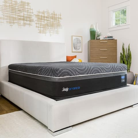 Sealy Premium Silver Chill 14-inch Firm Hybrid Cooling Mattress Set