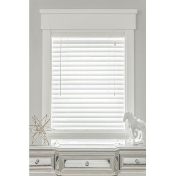 MySmartBlinds Custom Automated White Faux Wood 30-inch Width Blinds