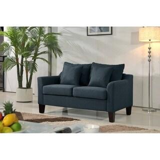 Julie Contemporary Linen Upholstered Loveseat