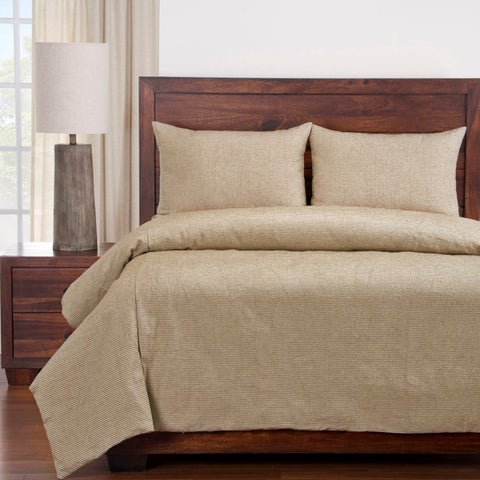 Siscovers Haystack Ticked Stripe Cotton Farmhouse Duvet and Shams Set
