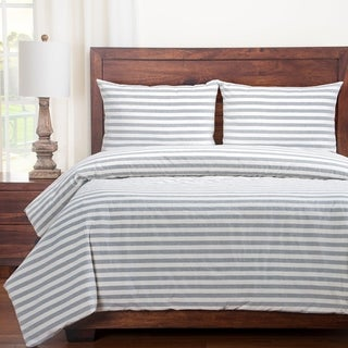 Siscovers Cotton Blend Farmhouse Stripe Duvet and Shams Set
