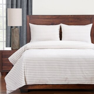 Siscovers Ticked Stripe Modern Farmhouse Duvet and Shams Set
