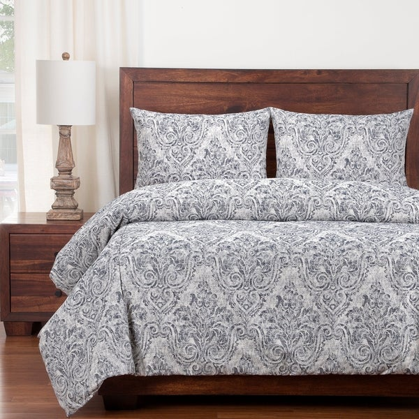 Siscovers Misty River French Country Cotton Duvet and Shams Set