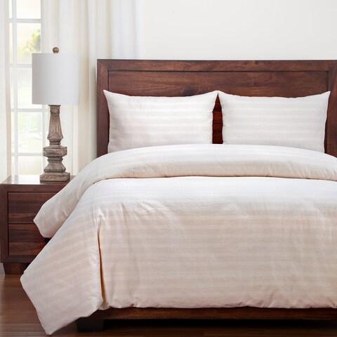 Siscovers Homestead Farmhouse Stripe Cotton Duvet and Shams Set