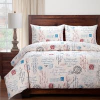 Siscovers French Postscript Cotton Blend Duvet and Shams Set