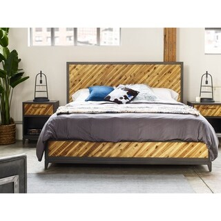 Aurelle Home Rustic Reclaimed Contemporary Bed