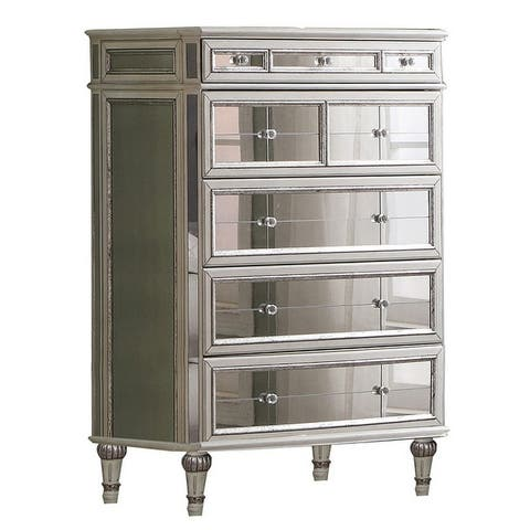 Best Master Furniture Antique Mirror 5 Drawer Chest