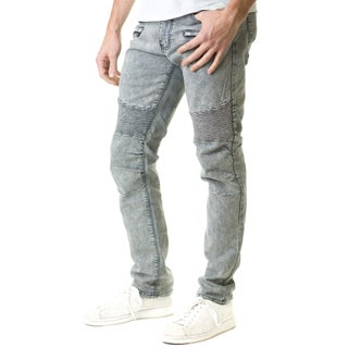 Refinery Republic Men's Dark Washed Blue, Moto Thigh, Slim Straight Fit Denim Jeans (More options available)