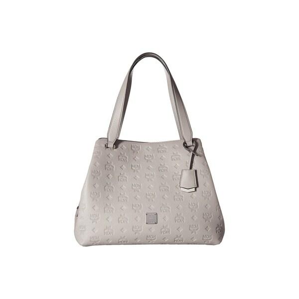 Shop MCM Women s Essential Monogrammed Leather Hobo - On Sale - Free ... cf79c8323