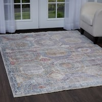 """Artisan Pastel Tiles Area Rug with Fringe by Nicole Miller - 5'3""""x7'9"""""""