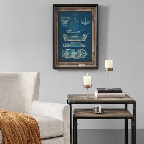 Madison Park Ahoy Blue Framed Antiuqe Style Art