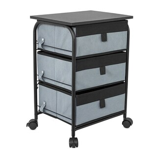 Internet's Best 3 Drawer Storage Rolling Cart