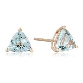 Link to 10k Rose Gold Aquamarine Trillion Stud Earrings Similar Items in Earrings