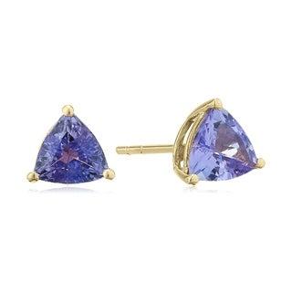 Link to 10k Yellow Gold Tanzanite Trillion Stud Earrings Similar Items in Earrings