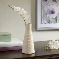 Madison Park Beaker White Ceramic Vase - Small