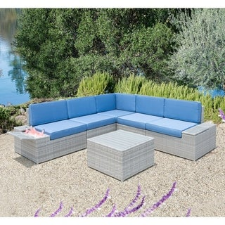 Corvus Modica Outdoor 6-piece Grey Wicker Sofa Set