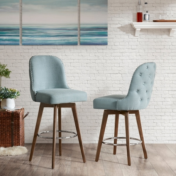 Shop Madison Park Heyes Blue Counter Stool On Sale